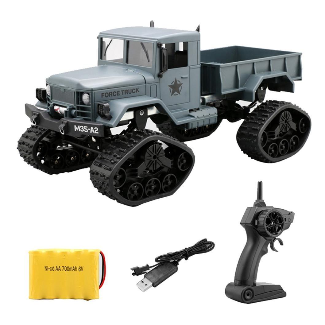 taottao RC Military Truck Ejército 1: 16 4 WD Seguimiento ruedas Crawler Off-Road Auto RTR juguete nuevo: Amazon.es: Belleza