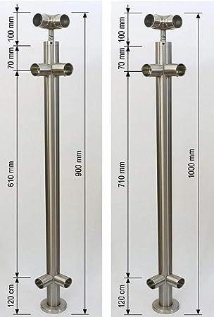 Gel/änder senkrechte Streben Balkon Terrasse Br/üstung 850 mm 900 mm