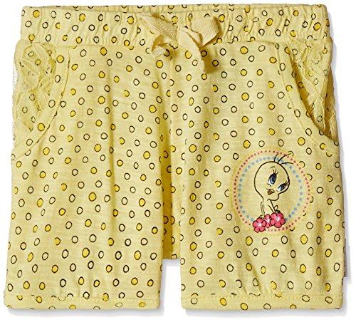 Tweety Girls' Shorts (TW0ESH1562_Buttercup Yellow_5 - 6 years)