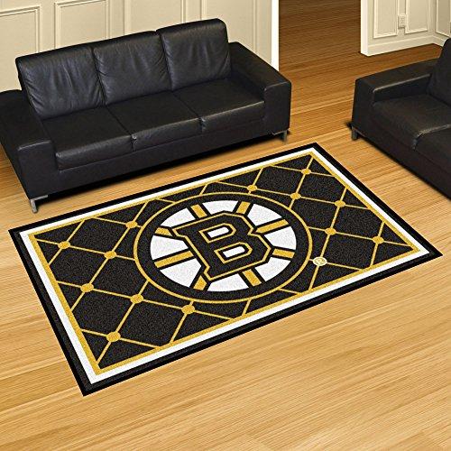 (FANMATS NHL Boston Bruins Nylon Face 5X8 Plush Rug)