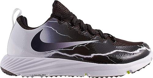 big sale 2213e a546b Nike Men s Vapor Speed Turf Football Shoe, 12.5 Black White