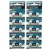 HyperPS (20 pcs) AG0 Alkaline 1.5V Button Cell Battery Single Use LR512 LR63 SR521SW 379 D379 618 Watch Toys Remotes Cameras