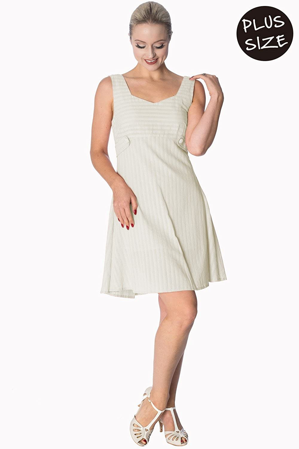 0310ca531d9d2 Banned Apparel - Make A Wish Tabs Dress Plus Size 4XL / OffWhite at Amazon  Women's Clothing store: