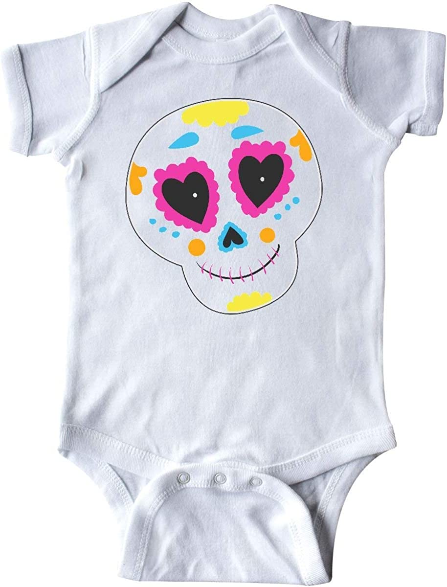 Huahai Sugar Skull Orange Infant Creeper