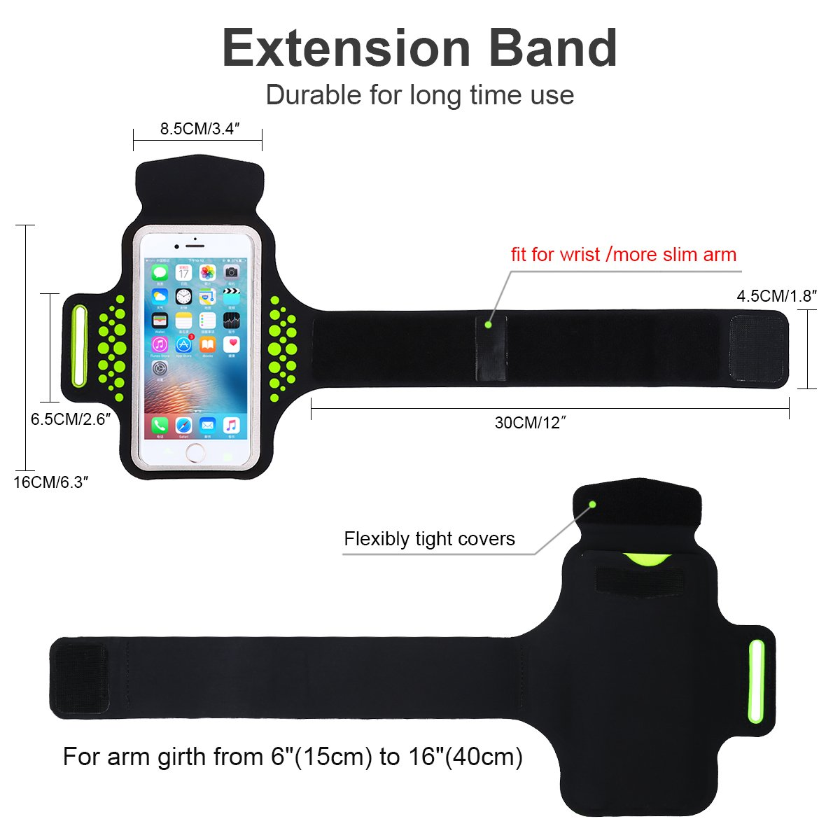 Amazon.com: Armband for iPhone 8 Plus iPhone 7 Plus 6 Plus 6s Plus,Workout Arm Band for Samsung Galaxy S5/S6/S7 Edge s8, LG G5, Note 2/3/4/5, ...