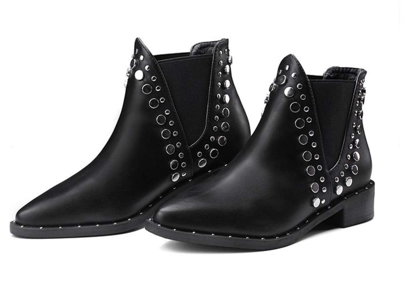 QVRGE Spitzen Stiefel Flache Schuhe Chelsea Stiefeletten Stiefel Stiefel Stiefel