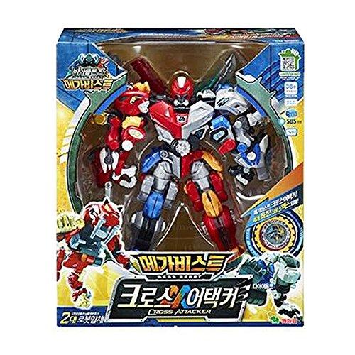 Young Toys Biklonz Mega Beast Cross Attacker Transformer Robot Toy Action Figure  Direwolf Sabertooth