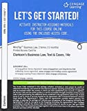 img - for MindTap Business Law, 2 terms (12 months) Printed Access Card for Clarkson/Miller/Cross' Business Law: Text and Cases, 14th (MindTap Course List) book / textbook / text book