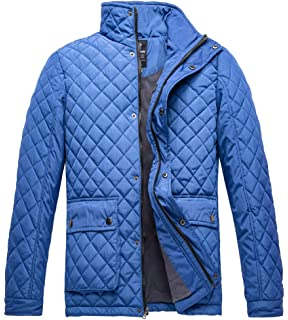 Luciano Natazzi Mens Quilted Puffer Jacket with Double Knit ...