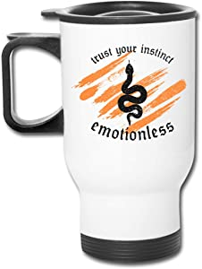 Trust Your Instinct Emotionless Stainless Steel Travel Mug Tumblers Tea Cup Coffee Thermos