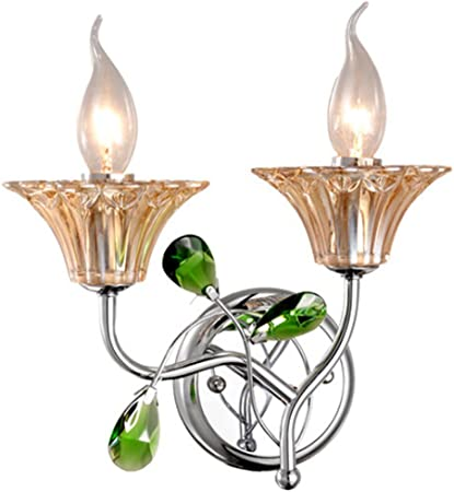 Sconce Led Crystal Candle Wall Light Wall Lamp Decorative Lights Light Continental Amazon Co Uk Sports Outdoors