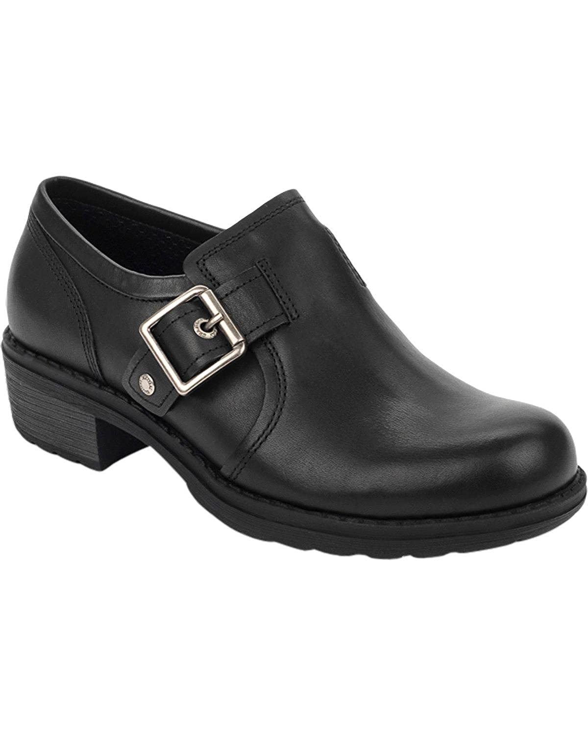 Eastland Womens Open Road Slip-Ons Black 6.5 W US