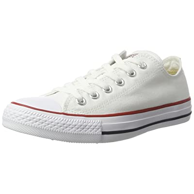 Converse Men's All Star Lean Ox Canvas Lace-Up Trainer White-White-10 | Fashion Sneakers