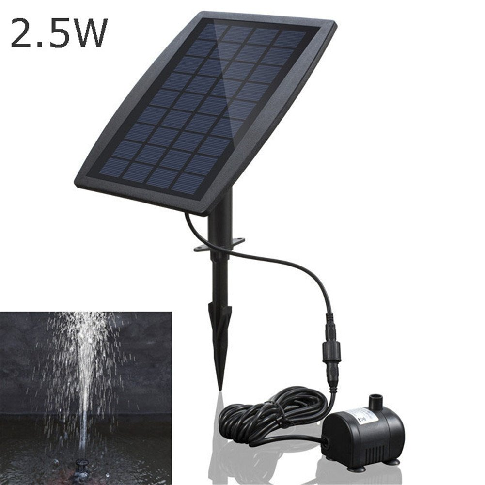 Solar Fountain Water Pump Kit 2.5W Solar Power Panel Upgraded Submersible Sprayer Pumps For Bird Bath Small Pool Pond Garden And Lawn