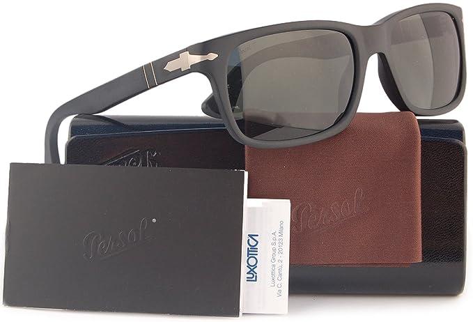 Matte Po3048s Polarized Persol Black Sunglasses Wcrystal Grey9000 NOvnw8m0