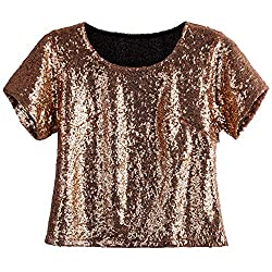 Women's Sequin Loose Sleeves Tunic Top