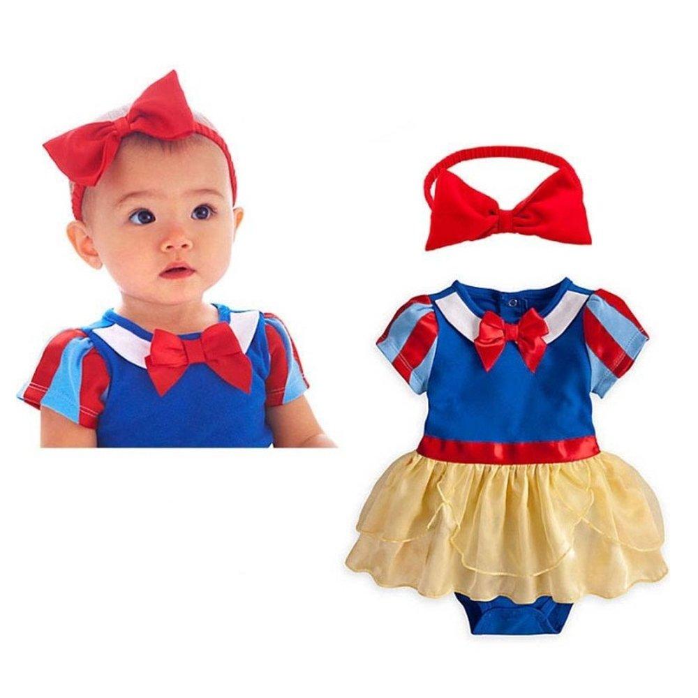 442231c6e Amazon.com  Baby Girl Snow White Princess Outfit Gown Set Toddler ...