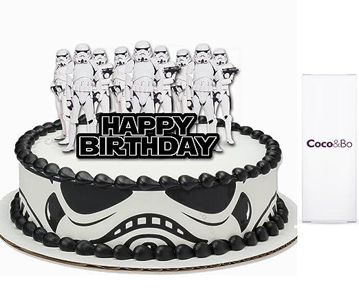 1 x coco y Bo - decoración para tartas, diseño Star Wars ...