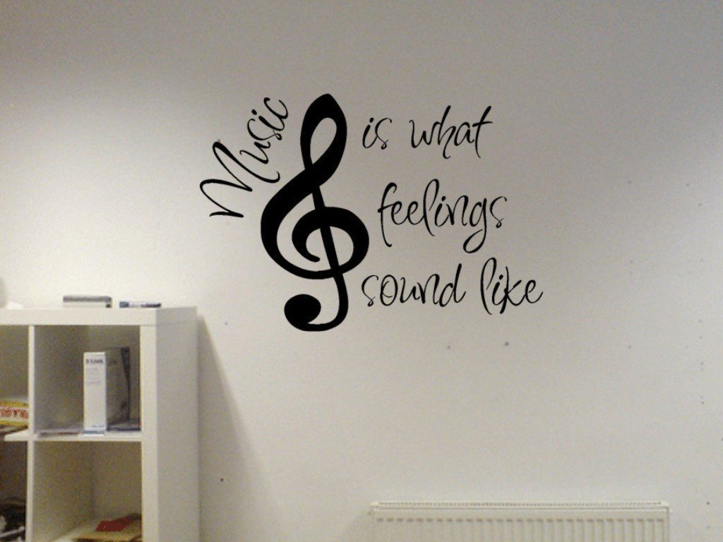 Amazon.com: Music Is What Feelings Sound Like Vinyl Wall Decal: Home U0026  Kitchen