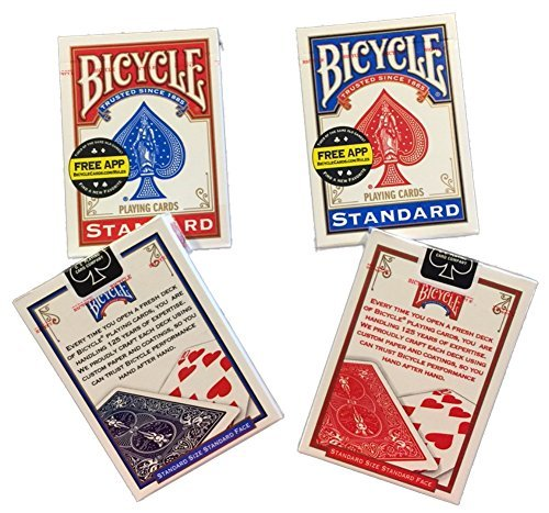 Bicycle Rider Back Poker Playing Cards, 4 Piece by Bicycle