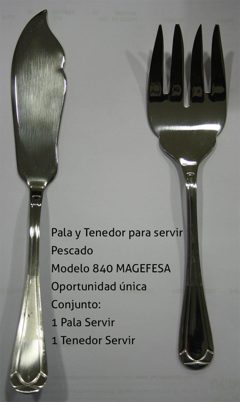 Cubertería magefesa mod.840 (Pala y Tenedor Servir +6 tenedores+6 palas): Amazon.es: Hogar
