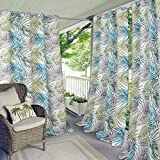 Cheap Elrene Home Fashions Indoor/Outdoor Grommet Top Single Patio Curtain Tropical Bahamas Leaf Print Window Drape, 50″ x 84″ (1 Panel)