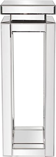 Howard Elliott Mirrored Pedestal Accent Table