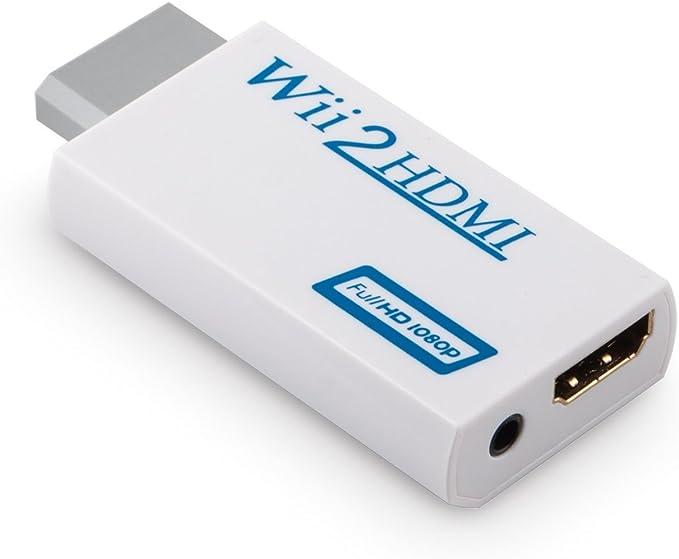 Adaptador Convertidor HDMI para Nintendo Wii a HDMI (Wii2HDMI) 1080P 720P con Conexion HDMI / 3.5 mm Audio Jack Estereo Blanco: Amazon.es: Electrónica