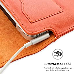 Snugg Leather Sleeve Case for Apple Macbook Air 11 Inch - Orange