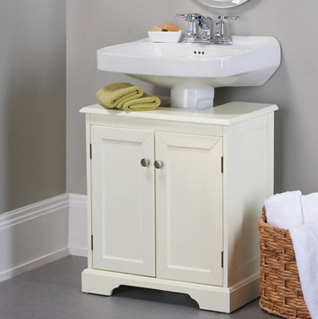 improvements weatherby bathroom solutions storage amazon home sink dp com pedestal cabinet kitchen