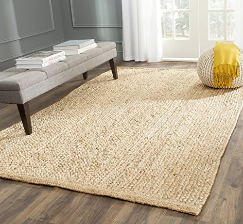 Safavieh Natural Fiber Collection NF461A Hand Woven Natural Jute Area Rug 5 x 8