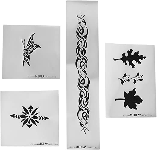 Amazon Com Iwata Medea Airbrush Body Art Stencil Au Natural Toys Games