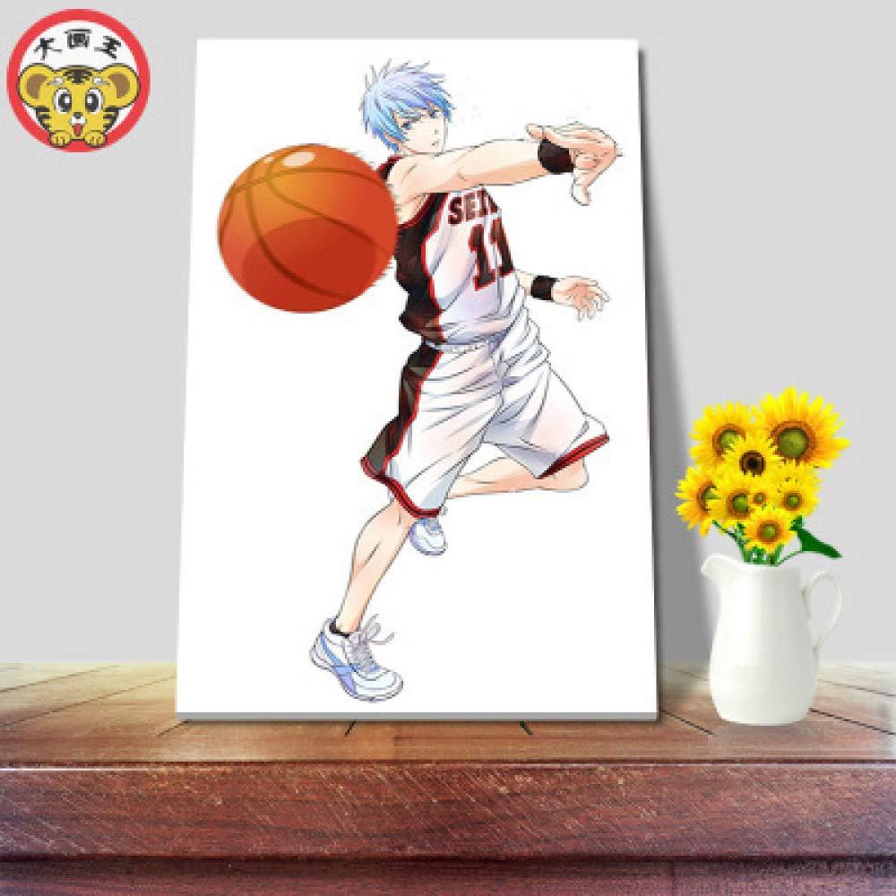 sin Marco) Pintura Digital 2D Anime Baloncesto Personaje ...