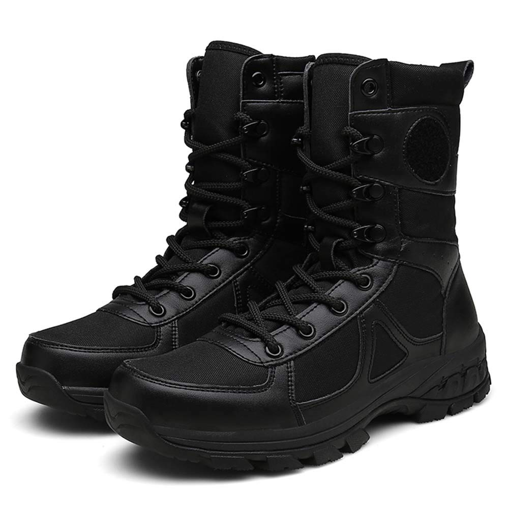 XLY Men es Tactical Stiefel Stiefel Stiefel Waterproof Comfortable Breathable Breathable Military Stiefel Wear-resistente Rutschfeste Side Zipper und Velcro Desert Stiefel 4ce0c1