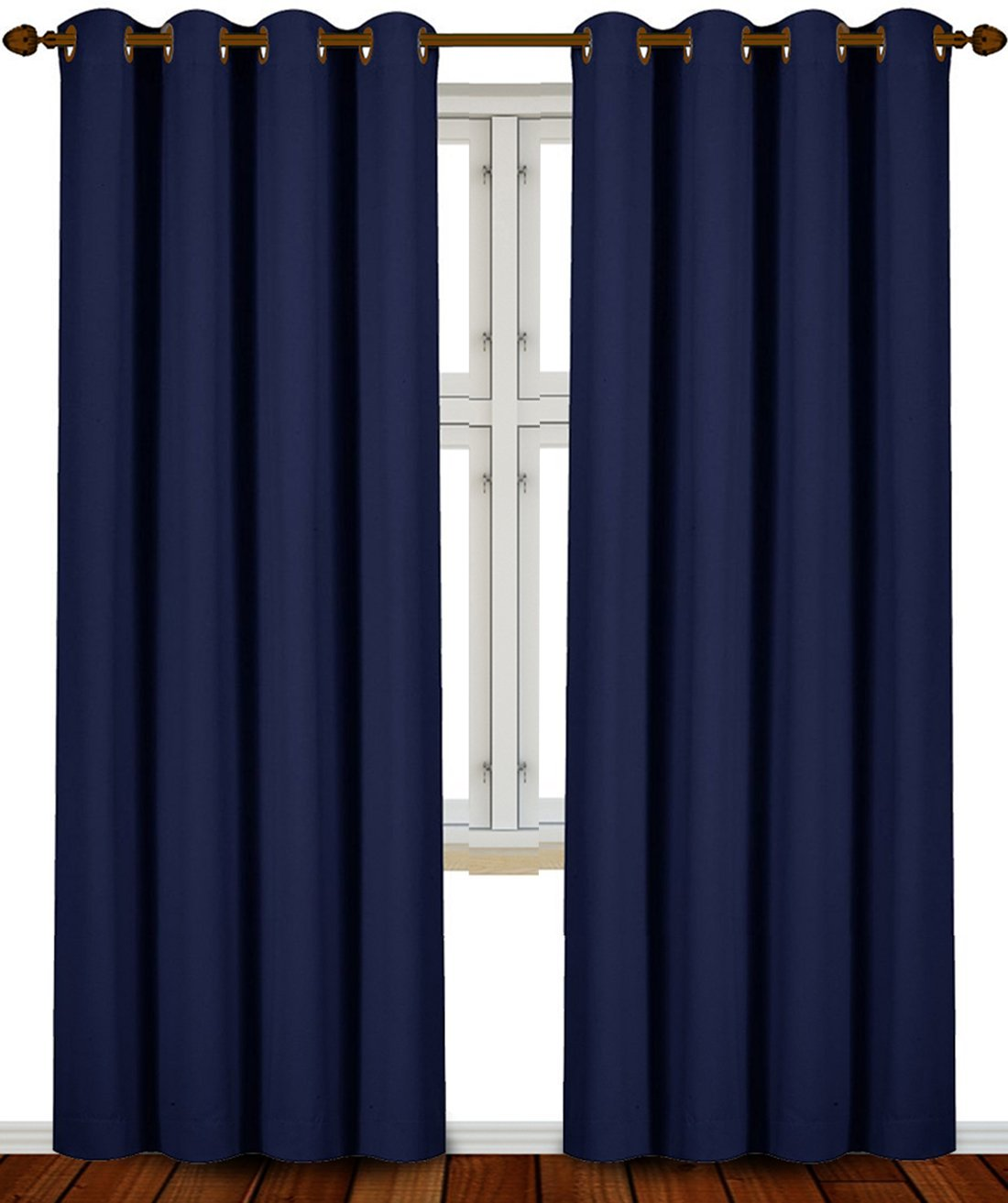 Utopia Bedding - Blackout Room Darkening and Thermal Insulating Window Curtains / Panels / Drapes