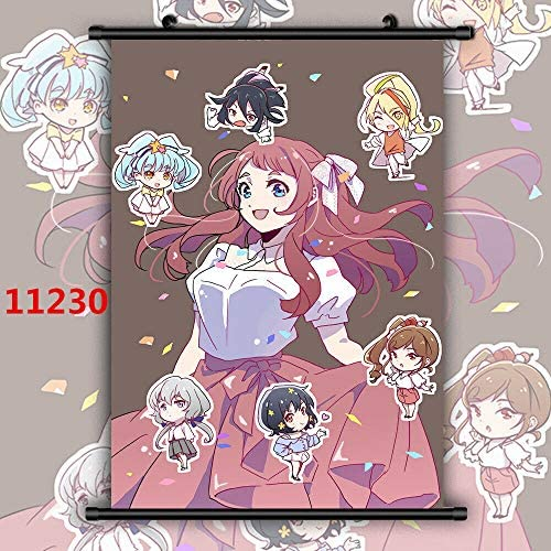 For Anime Zombieland Saga Minamoto Sakura Manga Wall Poster Affiche Faire D/éfiler 11229,20x30cm//8x11inches