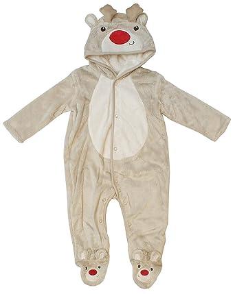 097ef67619 Get Wivvit Baby Christmas Rudolph Reindeer Hooded Sleepsuit Romper Sizes  from Newborn to 18 Months