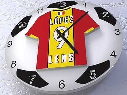 FanPlastic France Ligue 1 Gran Reloj de fútbol – Todos los diseños de Base de Reloj