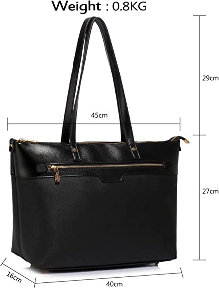 Women Handbag Laptop Tote Travel Cabin Luggage Faux Leather Ladies Shoulder Bag