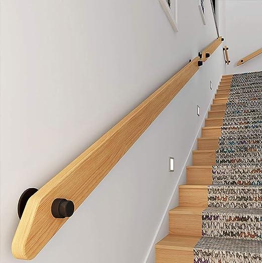 Barandillas Escalera de barandilla pasamanos de la Escalera pasamanos Kit Completo, de Madera Maciza de Pino Antislip Barandilla Muro de Seguridad for Las Barras, Lofts, Escaleras (Size : 8ft): Amazon.es: Hogar