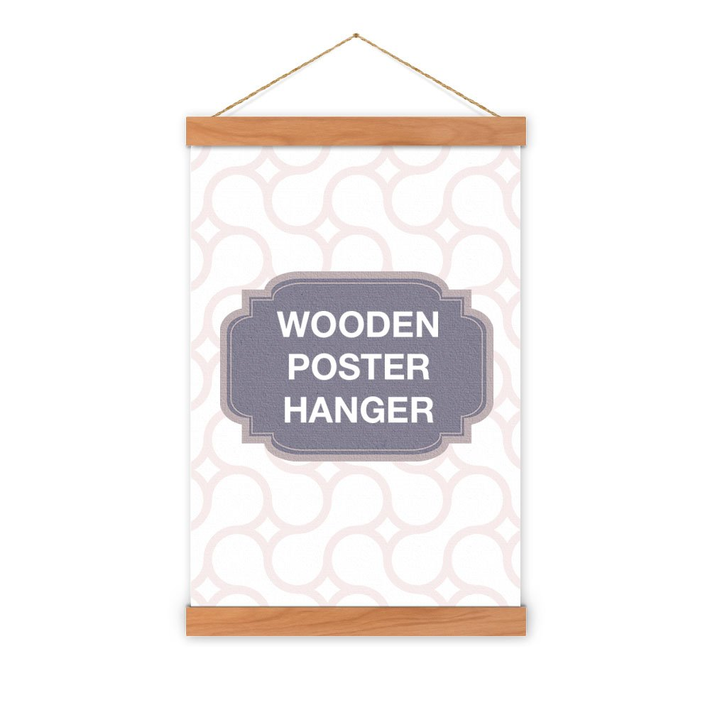 Non-Standard Size Cherry Wooden Poster Hanger - magnet self assembly (34 inch (86.36cm))