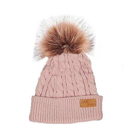 279c041ed USGreatgorgeous Baby Girl's Winter Warm Knit Hat Crochet Hairball ...