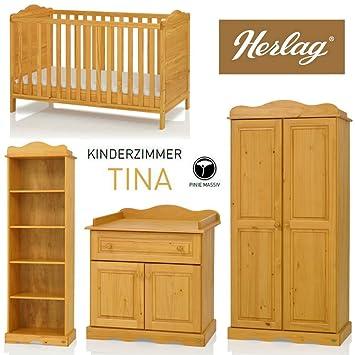 Herlag Kinderzimmer | Herlag Kinderzimmer Tina 4 Teilig Pinie Massiv 2t Amazon De Baby