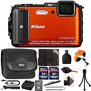 Nikon COOLPIX AW130 1080p HD Waterproof Digital Camera with 32GB Deluxe Accessory Kit