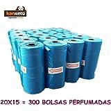 Kanxeto Bolsas perfumadas para perro, 600 bolsas para la caca de perro, 40 rollos x 15 bolsas para excremento de perro (XL, 900)