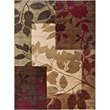 Home Dynamix Tribeca Amelia Area Rug | Contemporary Living Room Rug | Leaf and Floral Pattern | Soft and Cozy Texture| Multi-Beige 9'2″ x 12'5″ Review