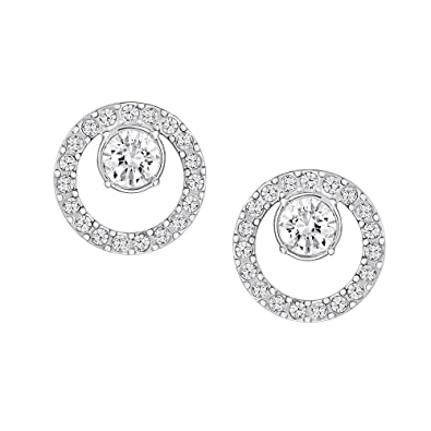 e857b1147 Image Unavailable. Image not available for. Color: Swarovski Creativity  Circle Small Earrings