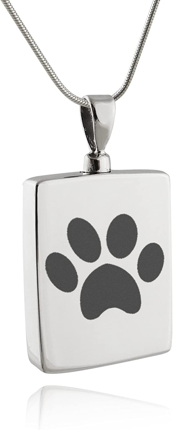 STERLING PET CREMATION Pendant 20mm 925 Sterling Silver Pet Memorial Pet Cremation Pendant Pet Loss Keepsake Pet Cremation Ashes Jewelry