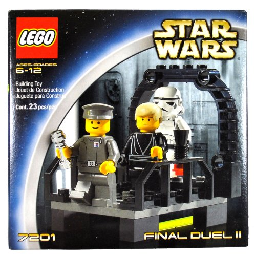 Lego Year 2002 Star Wars Series Movie Scene Set # 7201 - FINAL DUEL II with Walkway on the Second Death Star Plus Luke Skywalker as Jedi Knight, Imperial Officer and Stormtrooper Minifigures (Total Pieces: 23) (Death Star Ii Lego)