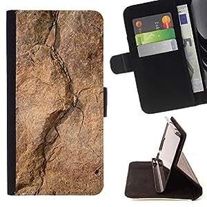 - Mountain Rock Climbing Stone - Estilo PU billetera de cuero del soporte del tir???¡¯????n [solapa de cierre] Cubierta- For Sony Xperia M2 £¨ Devil Case £©